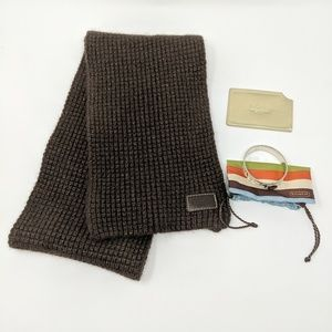 Coach lot of 3, bracelet, scarf, card holder